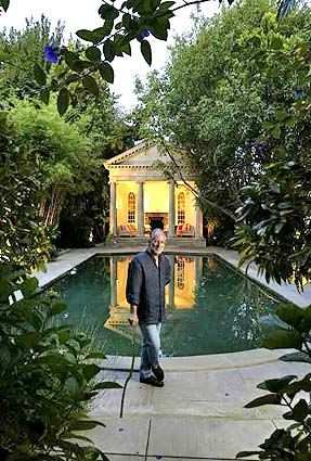 Richard Shapiro's Palladian folly in the Hollywood Hills