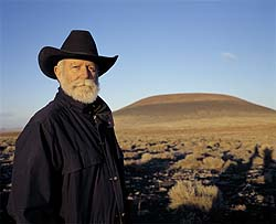 James Turrell at the extinct Roden Volcano in Arizona