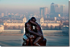 7 foot replica of The Kiss unveiled in Greenwich park on valentines day sculptor Jeremy Frattorini