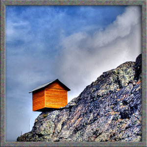 Shed on top of Whistler Mountain in Canada