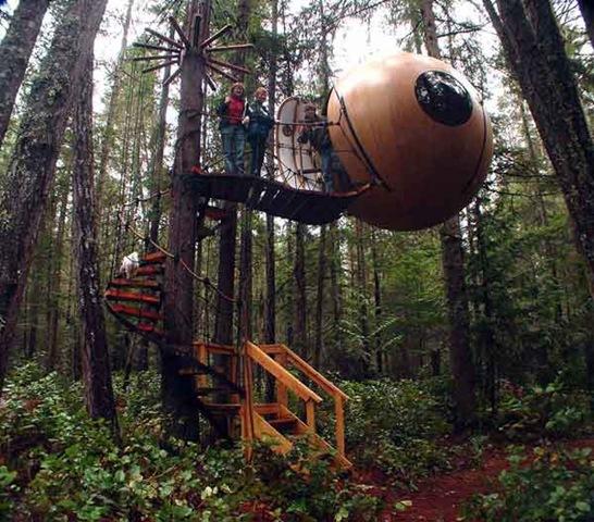 Wooden Spheres Vancouver Island